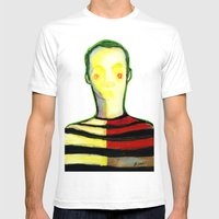 HIDDEN FACE Mens Fitted Tee White SMALL