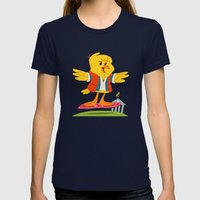 Hover Bird Womens Fitted Tee Navy SMALL