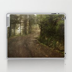 A foggy road in the forest, Dharamsala, India Laptop & iPad Skin