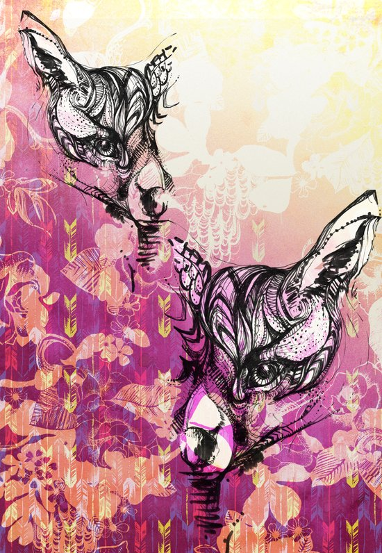 Foxy Loxy Art Print