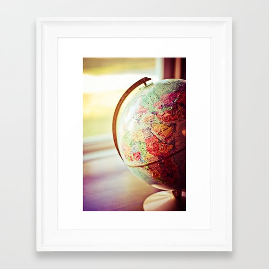 Globe  Framed Art Print