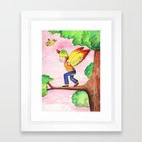 Flying Like A Bird Framed Art Print