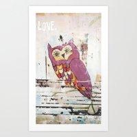 Owl LOVE. Art Print
