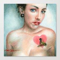 Keyhole Heart Canvas Print
