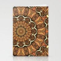 Molten Copper Mandala Stationery Cards