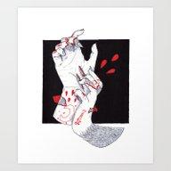 Art Print featuring Werewolf by Scoobtoobins