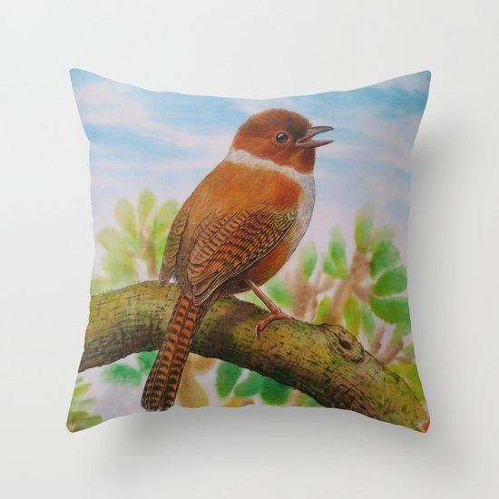 A Brown Bird Throw Pillow