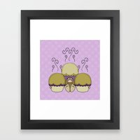 Cute Monster With Yellow… Framed Art Print