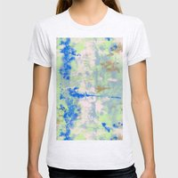 Tie Dye Womens Fitted Tee Ash Grey SMALL