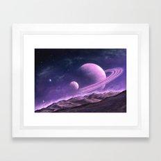 Saturn Rise Framed Art Print