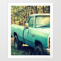 Ole' Blue Art Print