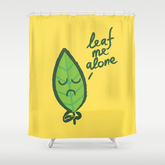 The introvert leaf Shower Curtain
