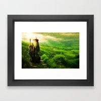 Gandalf's Return - Paint… Framed Art Print