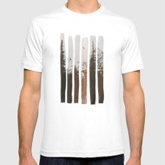 Into The Wild White SMALL Mens Fitted Tee