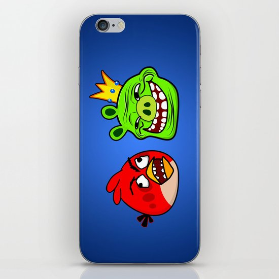 Trollface Pig and Rage Guy Angry Bird iPhone & iPod Skin