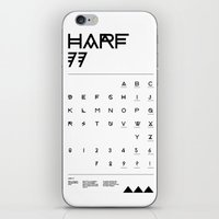 Harf 77 Poster (White) iPhone & iPod Skin