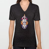 Caliveras Day of the Dead Unisex V-Neck