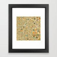 Los Angeles Map Framed Art Print
