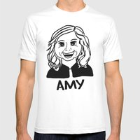 Amy Poehler Mens Fitted Tee White SMALL
