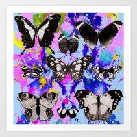 Tie Dye Butterflies Art Print