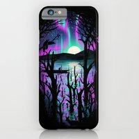 iPhone & iPod Case featuring Night With Aurora by nicebleed
