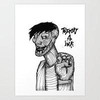Thirsty 4 Ink Art Print