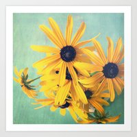 Sweet Yellow Flowers Art Print