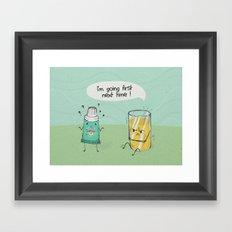 I'm going first Framed Art Print