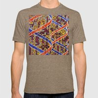 Transmission Mens Fitted Tee Tri-Coffee SMALL