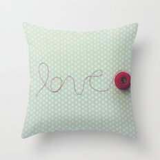 love in string Throw Pillow