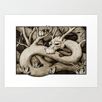 Tree Dragon Art Print