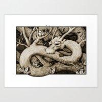 Tree Dragon Art Print