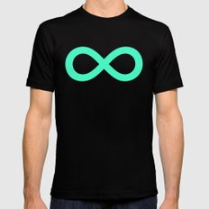 Mint Infinity SMALL Mens Fitted Tee Black