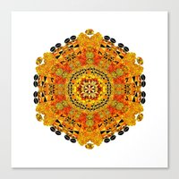 Patterned Sun Canvas Print