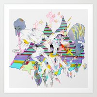 OURS OURS OURS Art Print