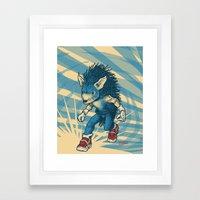 Sonic The Hedgehog Framed Art Print