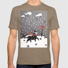 Snow Cat Mens Fitted Tee Tri-Coffee SMALL