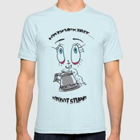 I'm Drunk but not stupid Mens Fitted Tee Light Blue SMALL