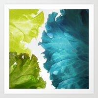 Bluegreen Waves (Art of Food) Art Print