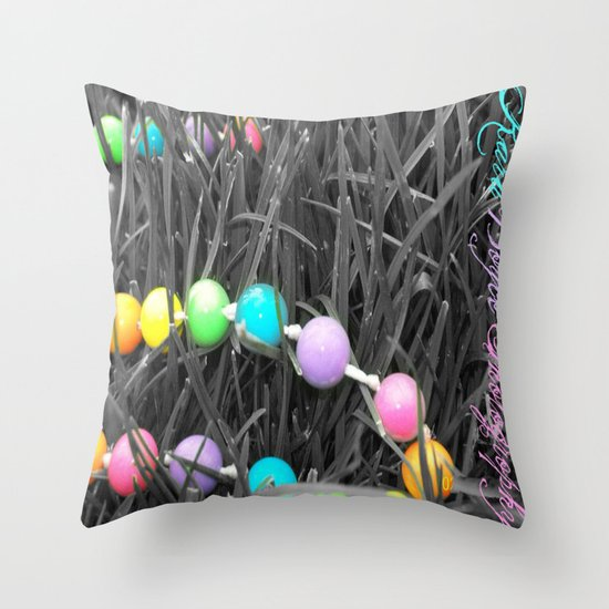 Serenity Beads Throw Pillow