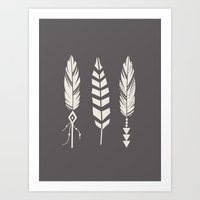 Gypsy Feathers Art Print