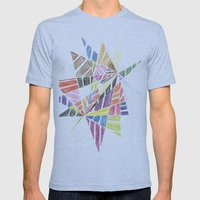 Jagged Mens Fitted Tee Athletic Blue SMALL