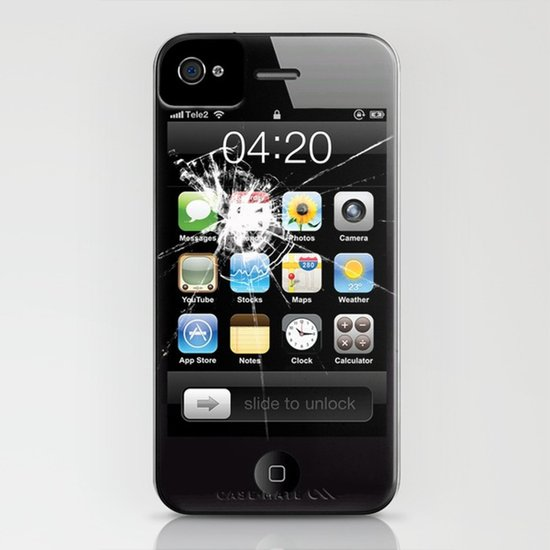 iPhone4 Broken (follow link below for iPhone5) Art Print