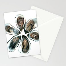 Oysters on the Half Shell Stationery Cards