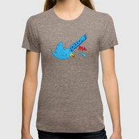 follow me! Womens Fitted Tee Tri-Coffee SMALL