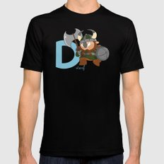 d for dwarf Mens Fitted Tee SMALL Black