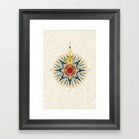 Rose Compass  Framed Art Print