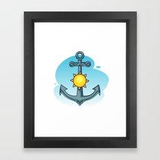 Anchor And Sun - Summer … Framed Art Print