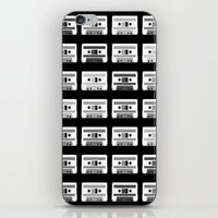 Black and White Tapes iPhone & iPod Skin