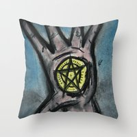 Ace of Pentacles Throw Pillow